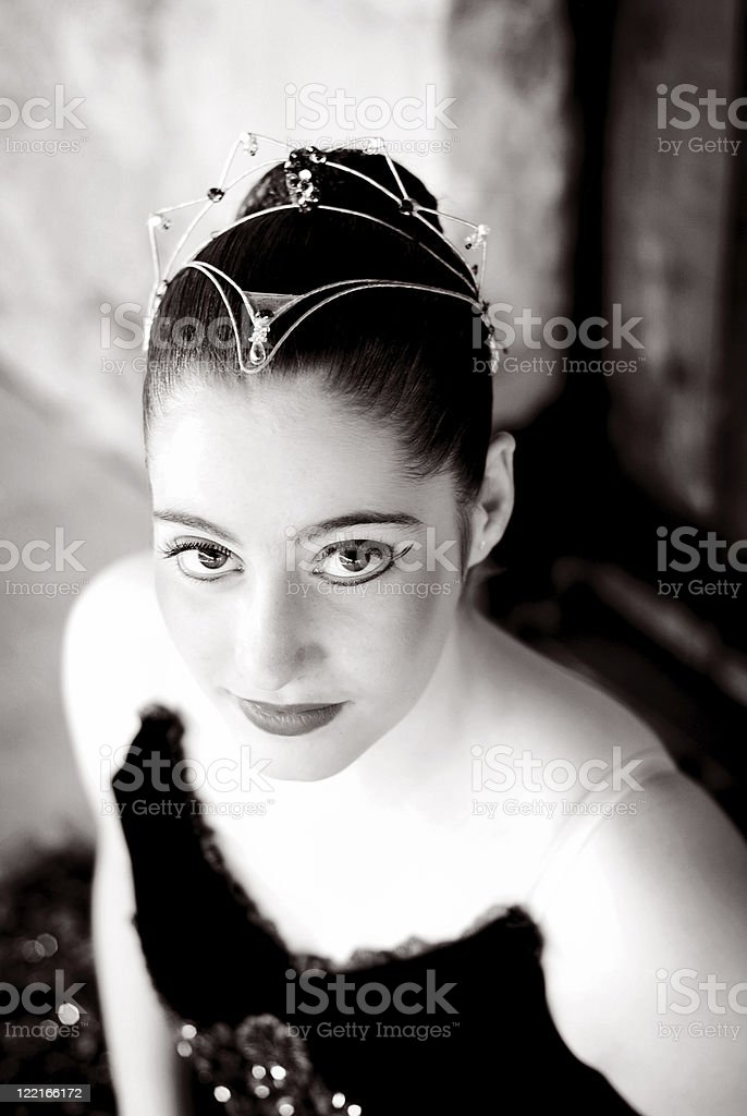 Ballet:Ballerina in Tutu with full makeup and headdress royalty-free stock photo