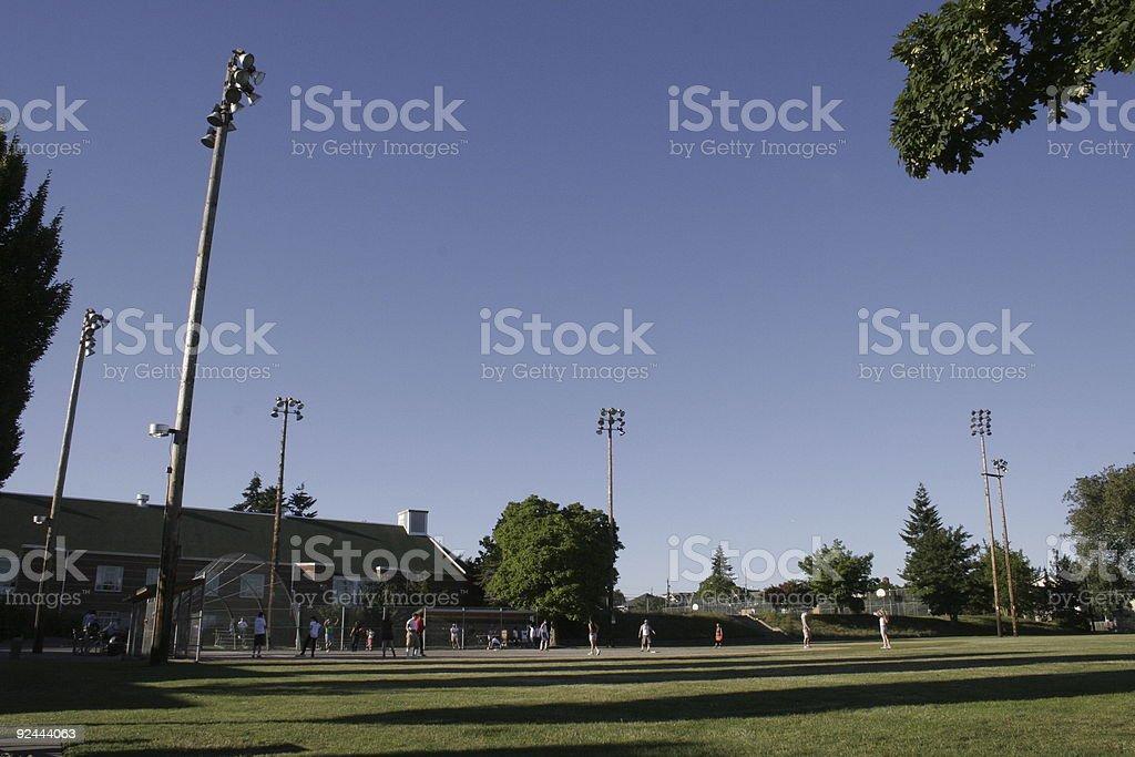 Ballfield stock photo