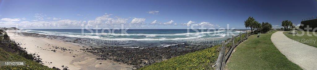 Ballina Beach Panorama stock photo