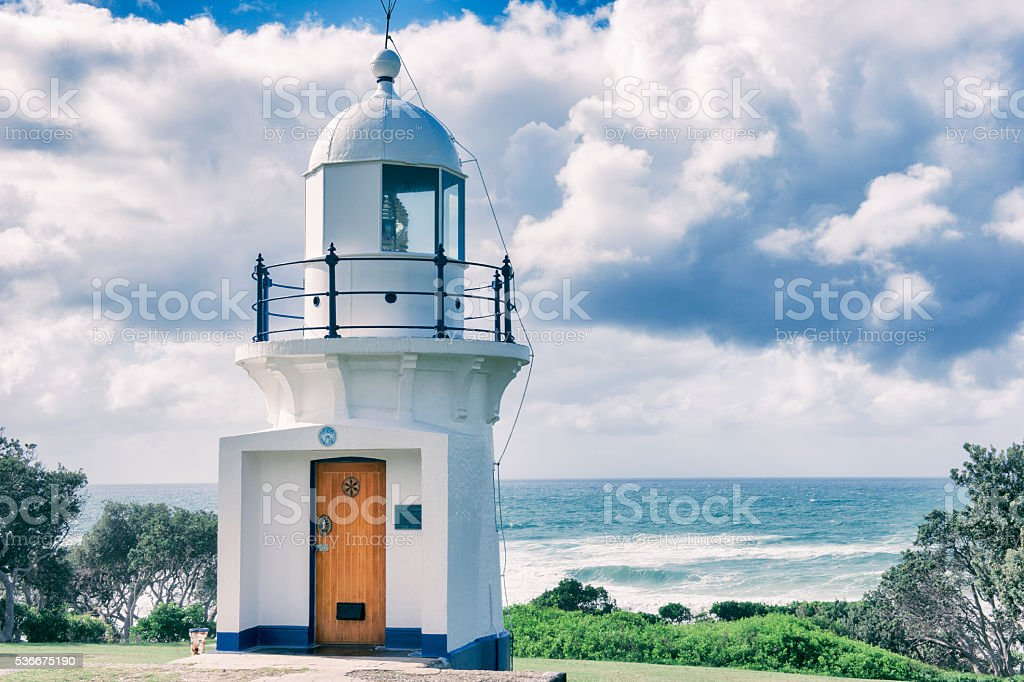 Ballina Lighthouse in New South Wales stock photo
