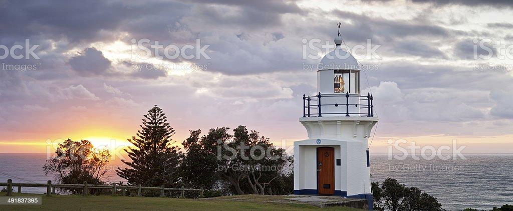 Ballina Lighthouse Panorama stock photo