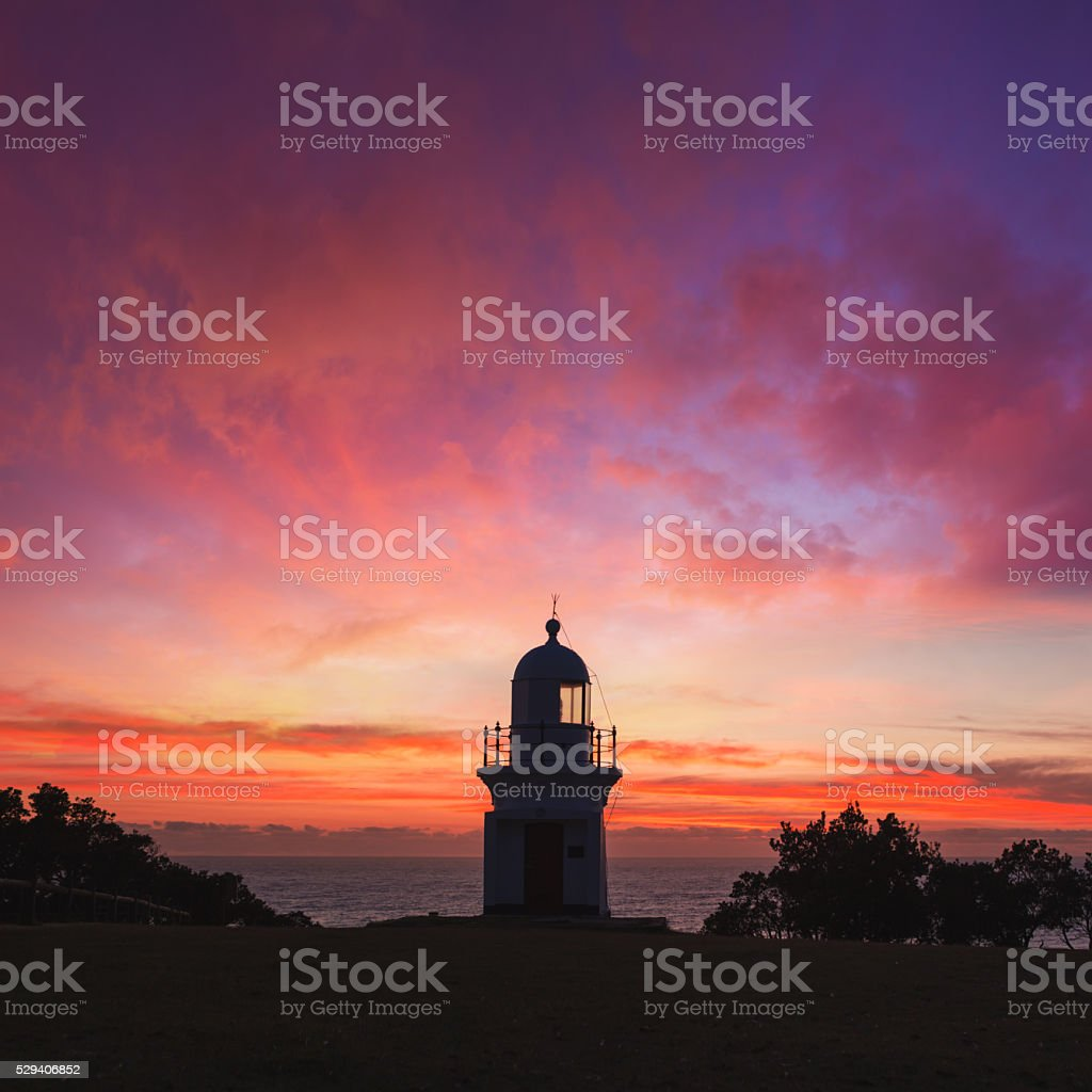 Ballina Lighthouse Sunrise stock photo