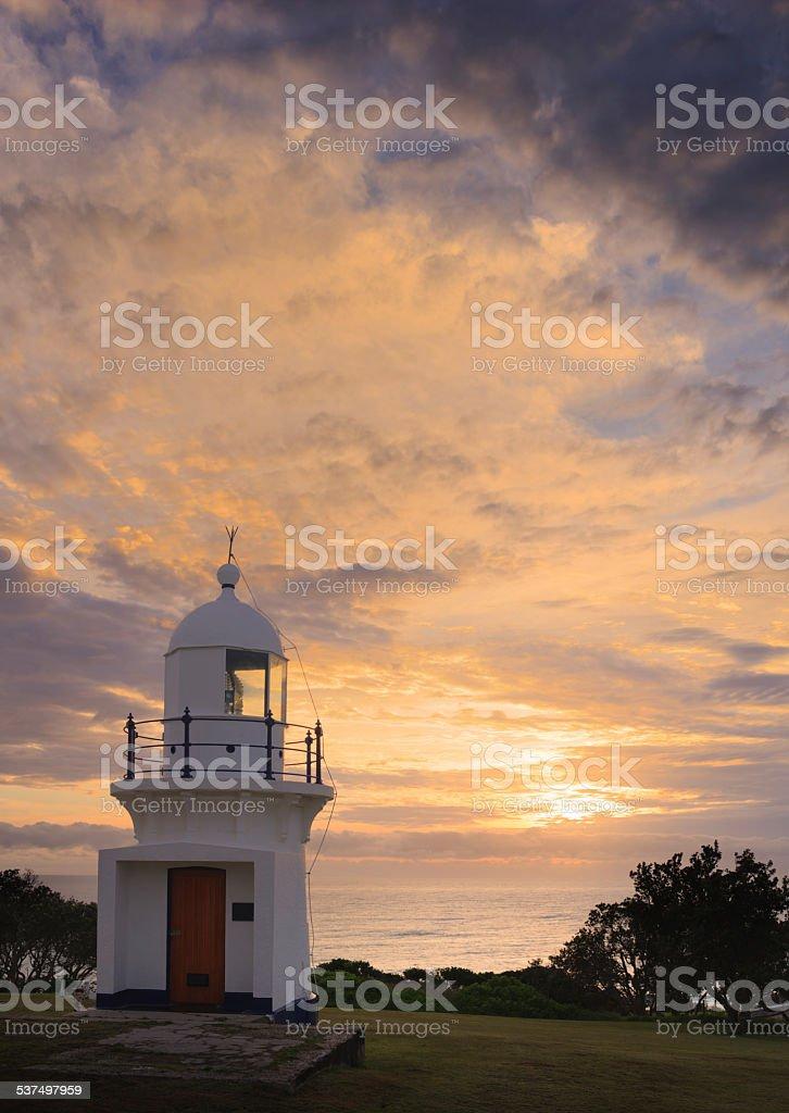 Ballina Lighthouse Sunrise stock photo