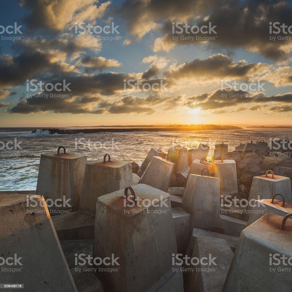 Ballina River Wall stock photo