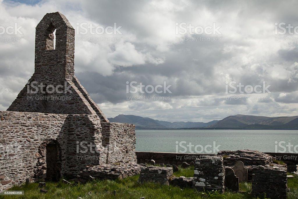 Ballinskelligs Abbey stock photo