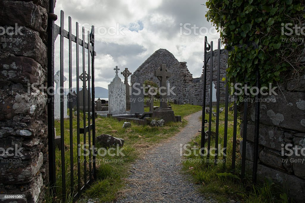 Ballinskelligs Abbey stock photo