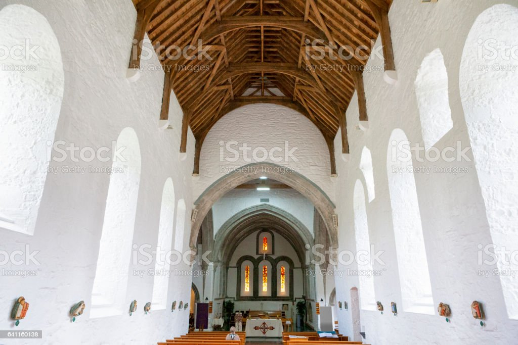 Ballintubber Abbey in County Mayo, Ireland. stock photo