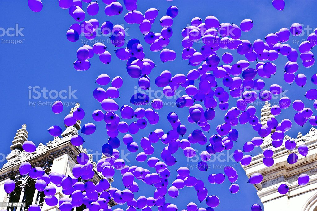 Ballons in sky royalty-free stock photo