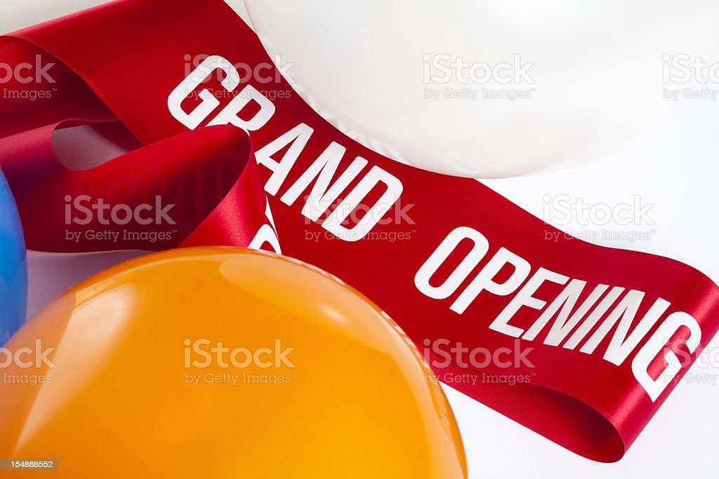 Balloon and Grand Opening tape royalty-free stock photo
