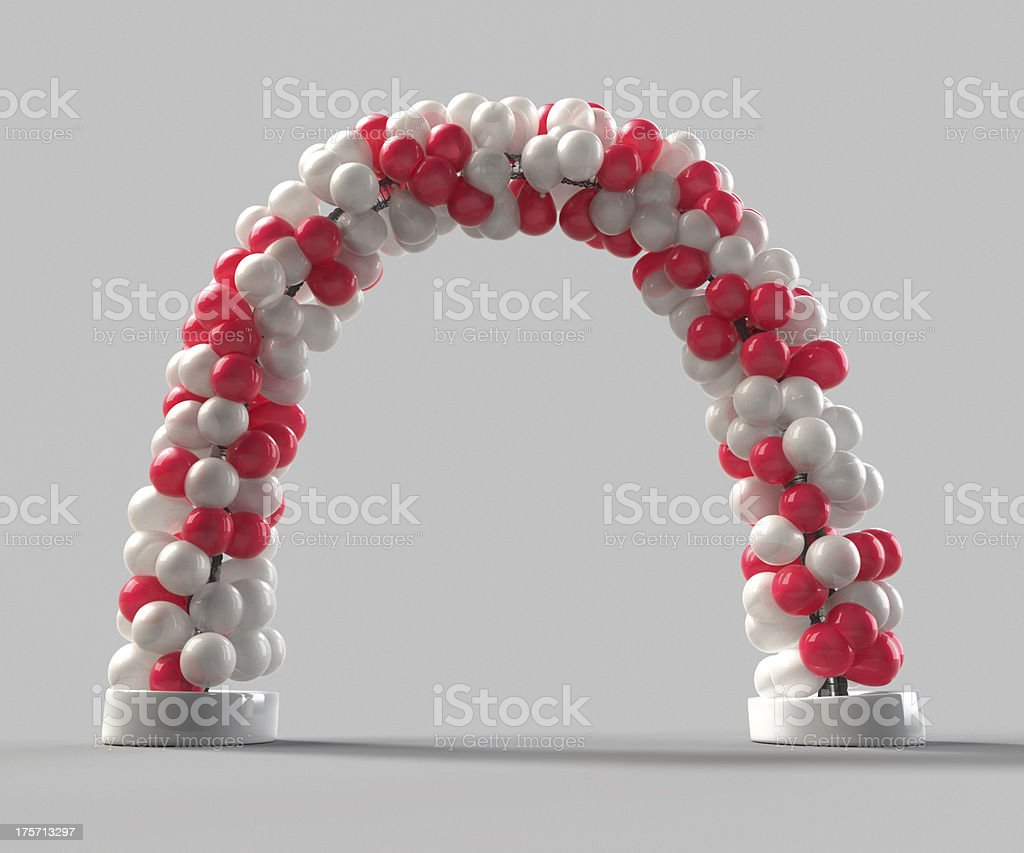 Balloon arch decoration stock photo