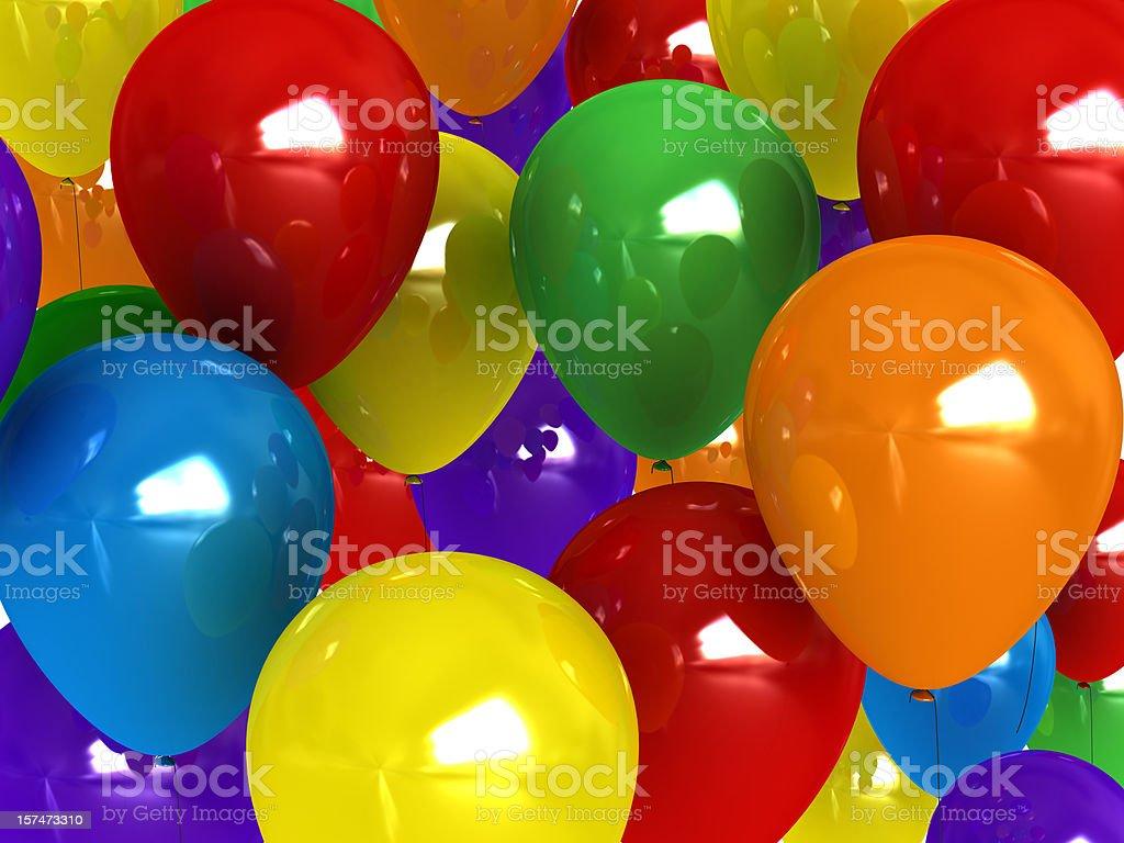 Balloon background stock photo