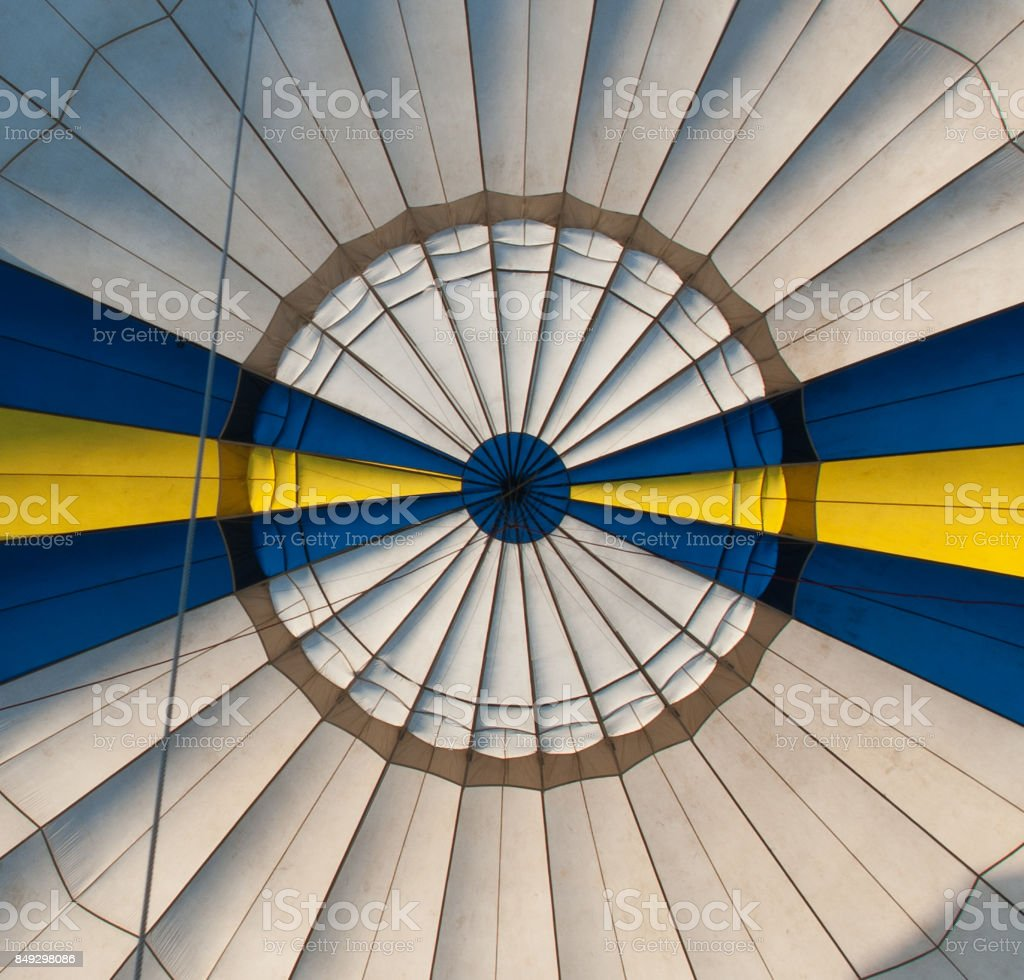 Balloon. Bottom view. stock photo