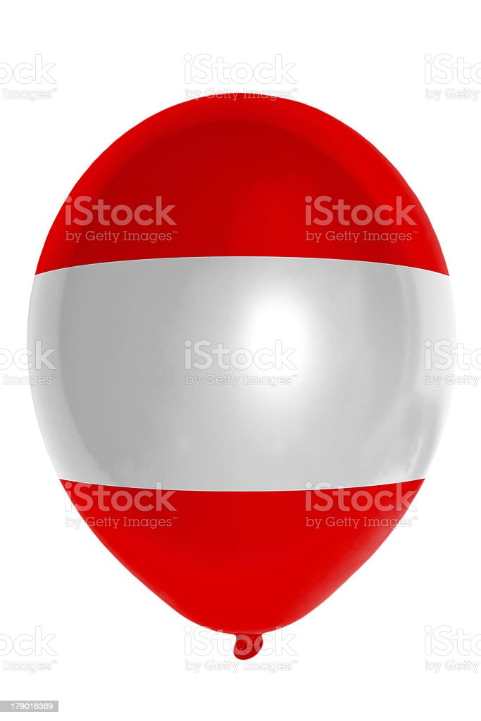 Balloon colored in  national flag of austria stock photo