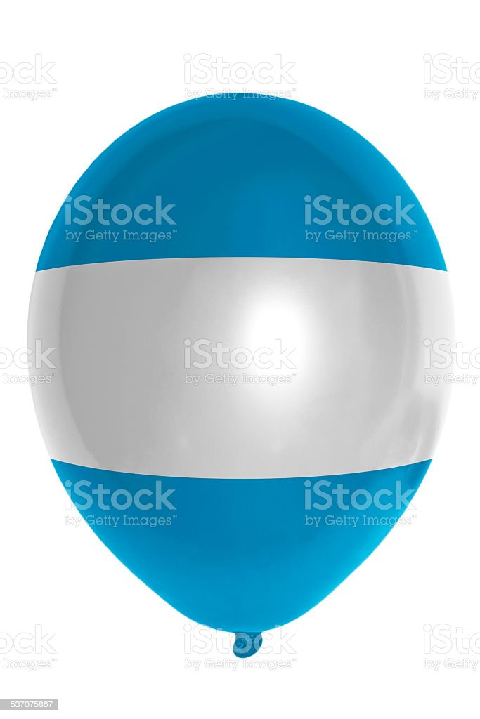 Balloon colored in national flag of el salvador stock photo
