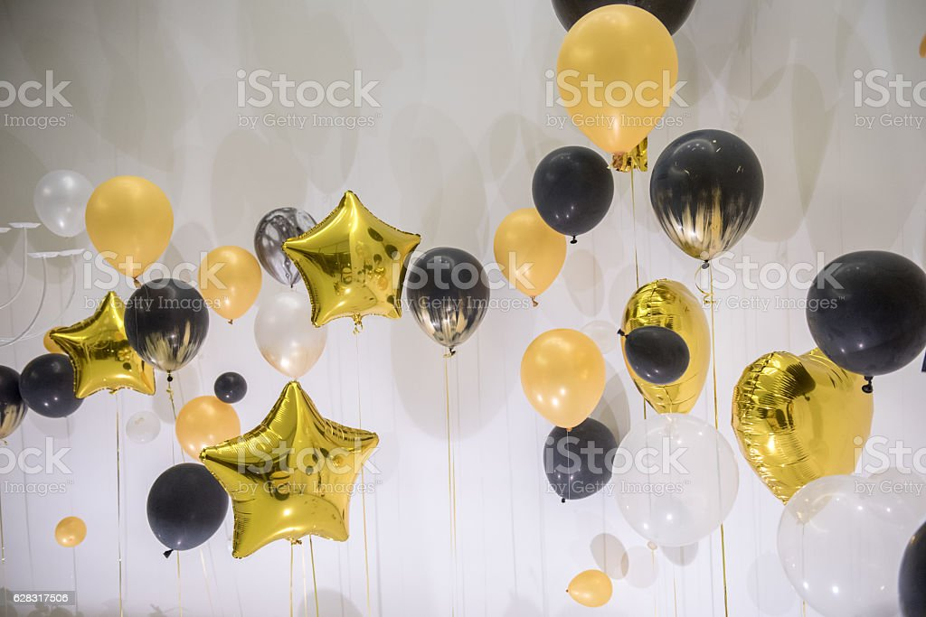 Balloon decoration for party stock photo