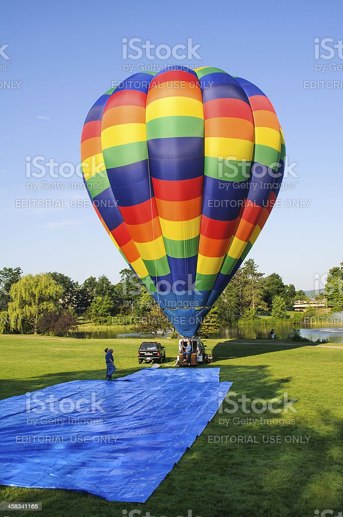 Balloon Deflation stock photo