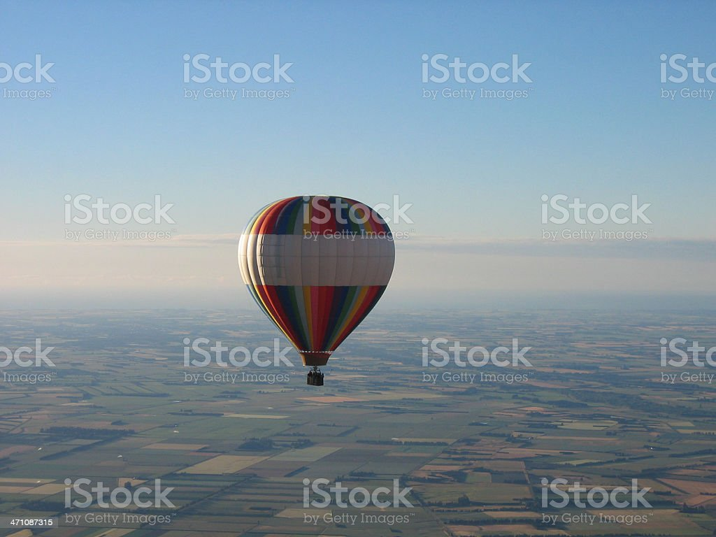 balloon drifting with the wind stock photo