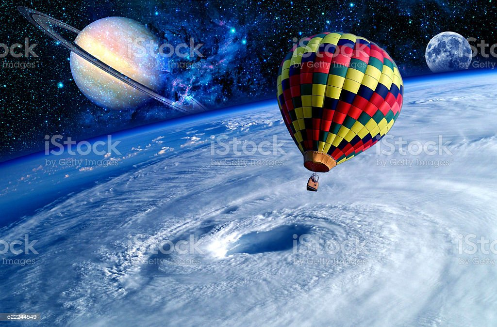 Balloon Earth Dreamland stock photo