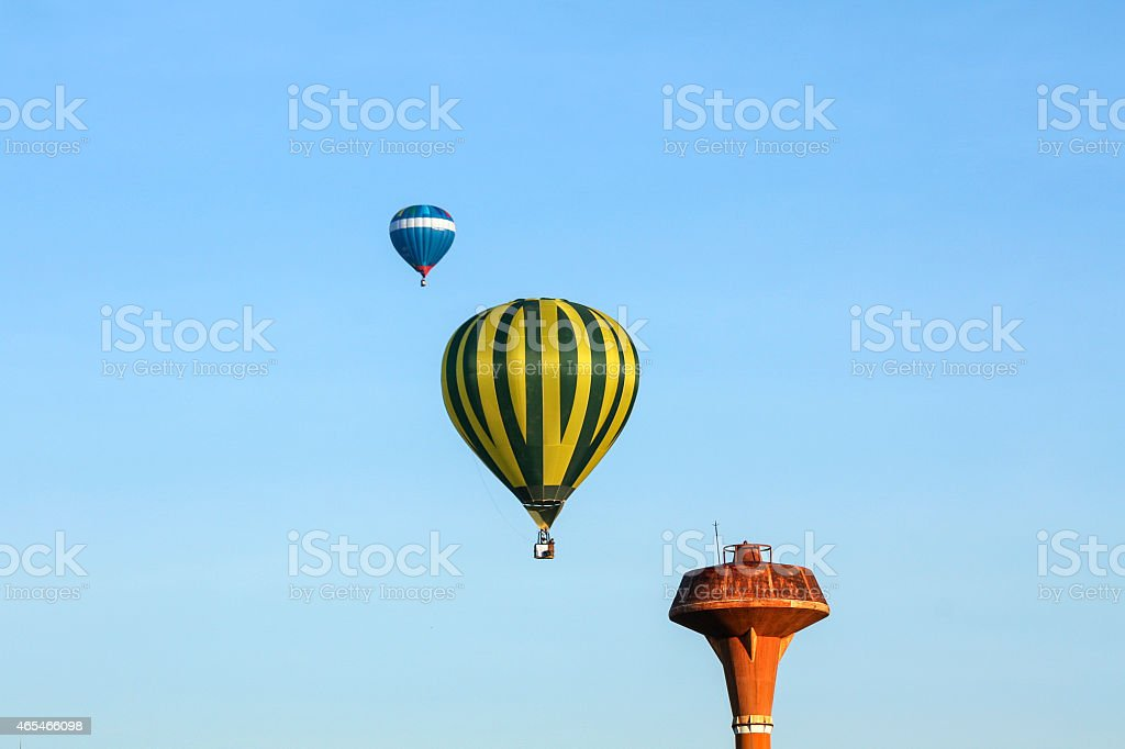 Balloon festival in the sunny morning royalty-free stock photo