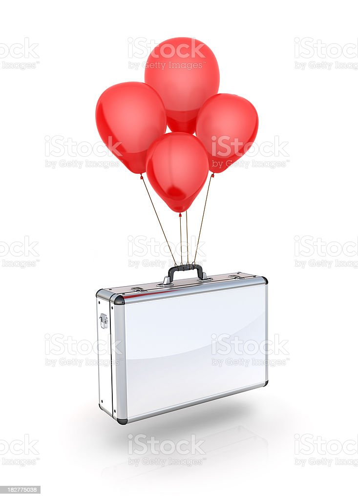 Balloon Flying Business Suitcase royalty-free stock photo