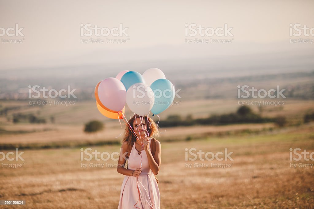 Balloon fun stock photo