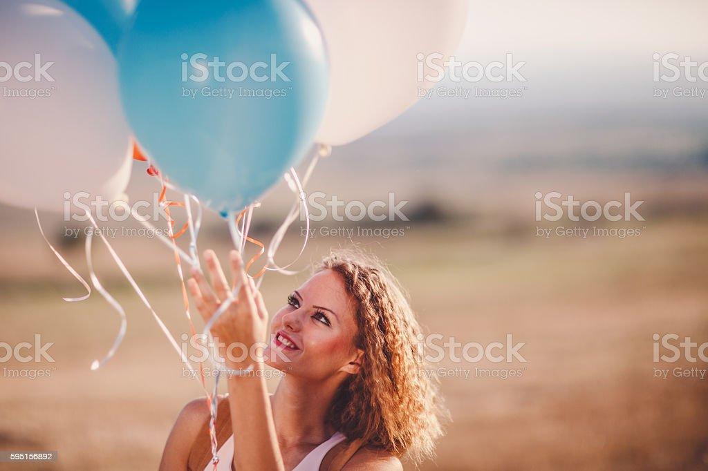 Balloon fun stock photo