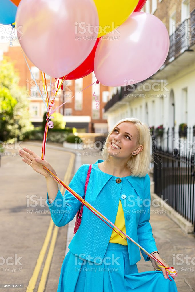 balloon girl royalty-free stock photo