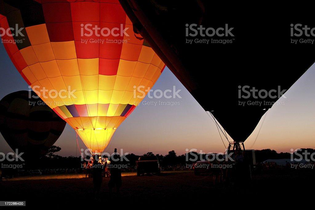 Balloon Glow at Night royalty-free stock photo