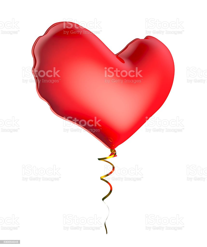 Balloon in the shape of a heart. royalty-free stock photo