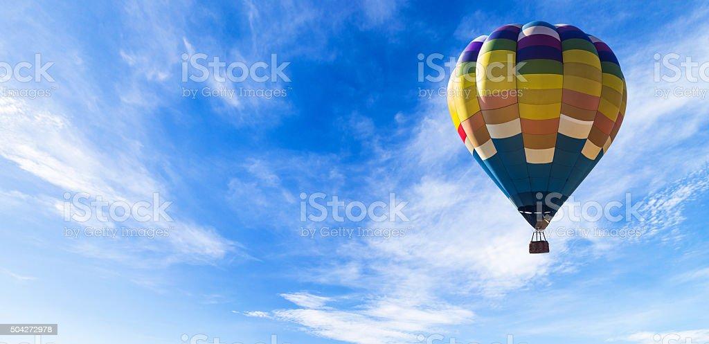 Balloon in the sky panorama stock photo