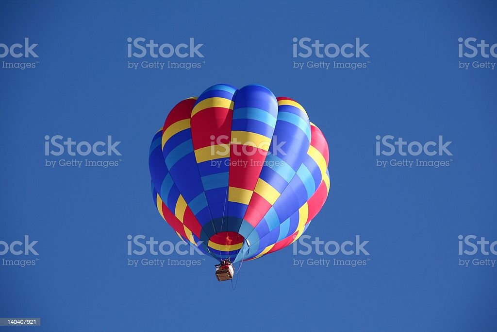 Balloon in the sky stock photo