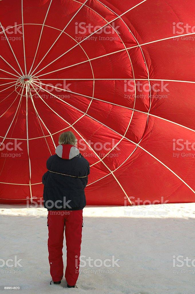 Balloon inflation royalty-free stock photo