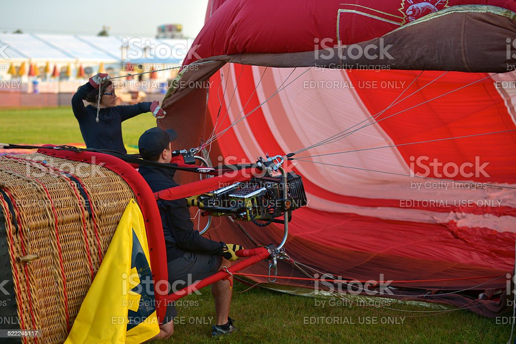 Balloon is full of cold air stock photo