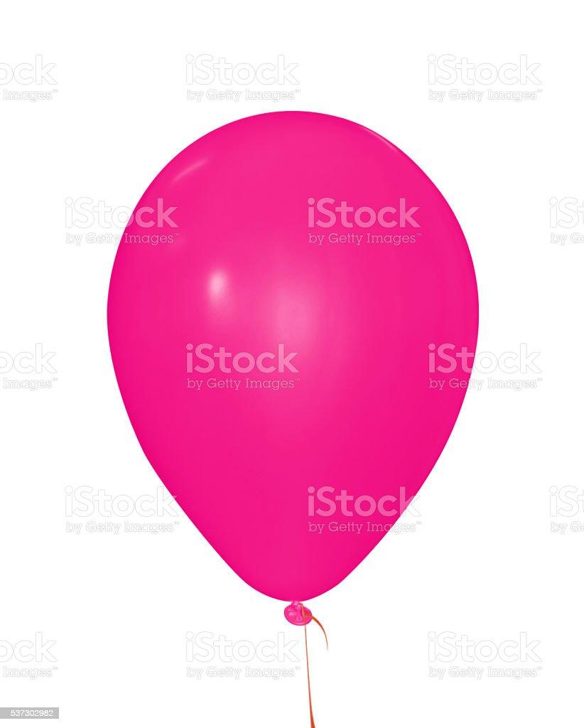 Balloon isolated - pink stock photo
