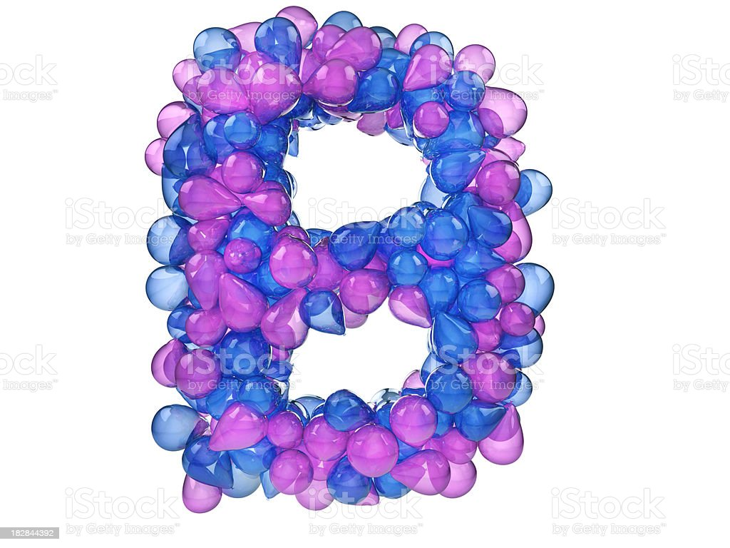 balloon Letter B royalty-free stock photo