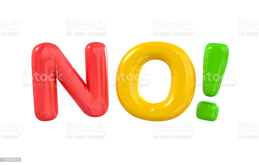 NO Balloon Letters. royalty-free stock photo