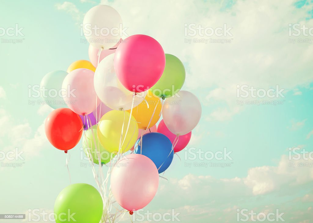 balloon of party stock photo