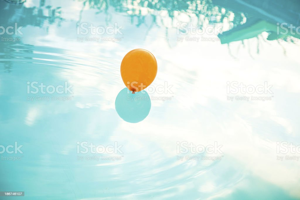 Balloon on the water royalty-free stock photo