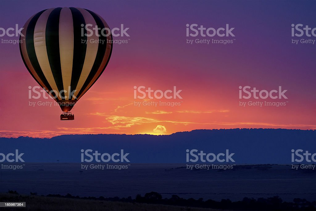 Balloon safari stock photo