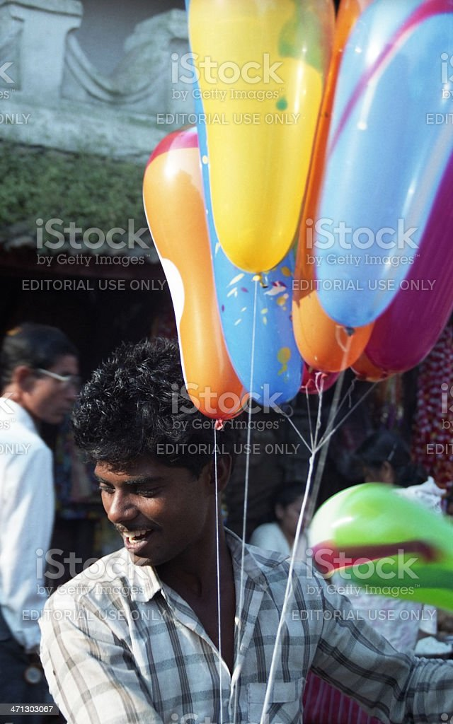 Balloon Seller, Kathmandu, Nepal stock photo
