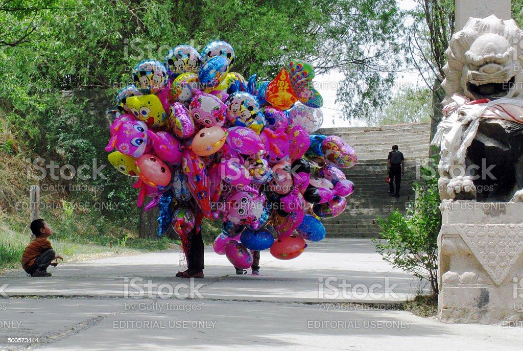 Balloon Seller stock photo