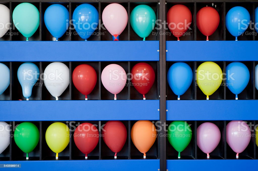 Balloon Skill Game stock photo