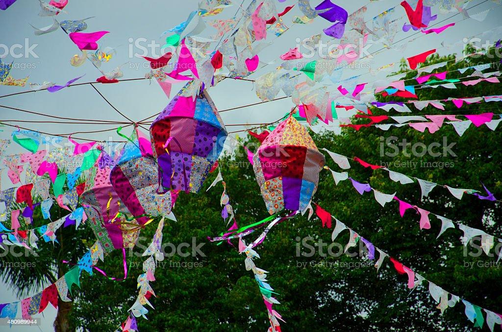 Balloon St. John stock photo