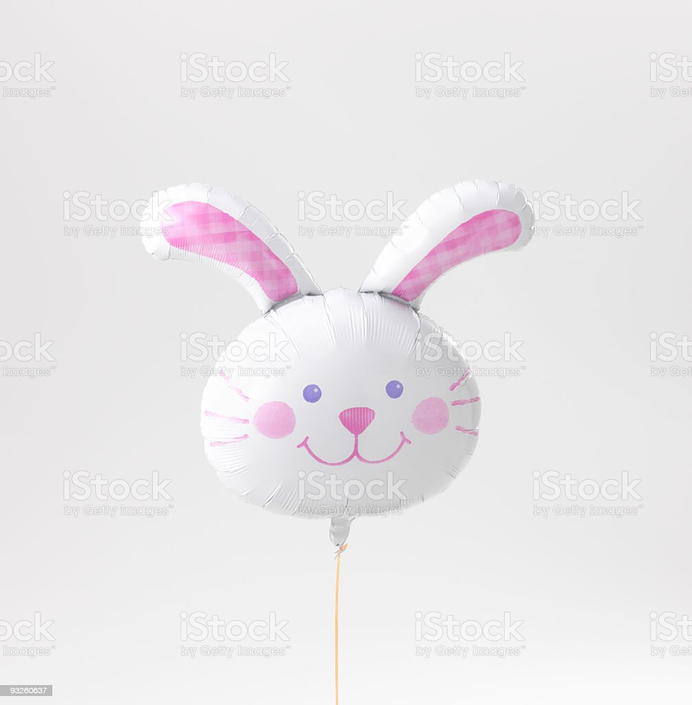 Balloon to have rabbit's shape stock photo
