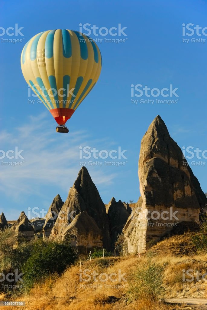 Balloon tour stock photo