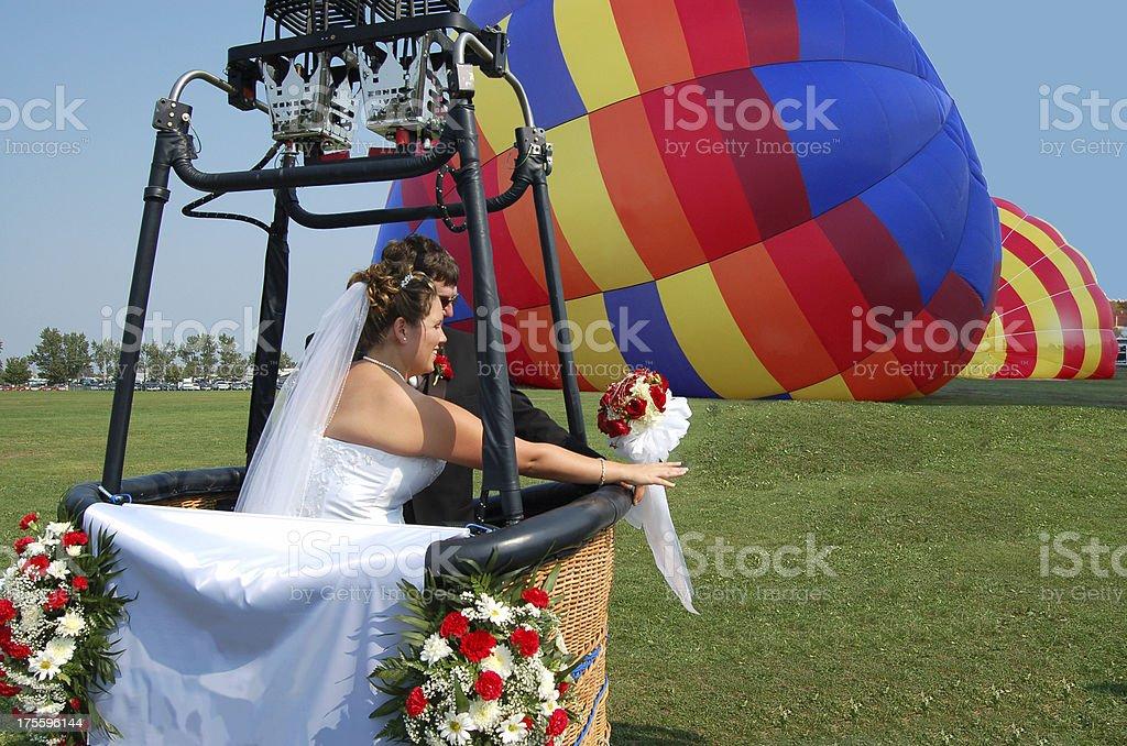 Balloon Wedding Couple royalty-free stock photo