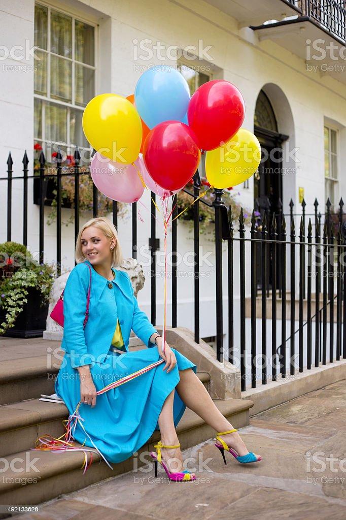 balloon woman royalty-free stock photo