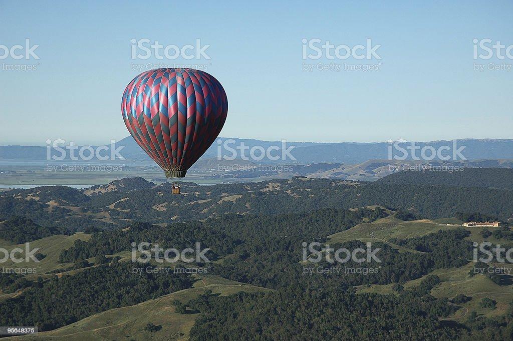 Ballooning above Napa Valley royalty-free stock photo