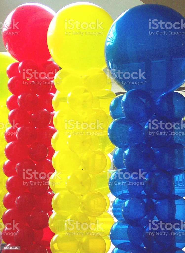 Balloons 3 Unsaturated stock photo
