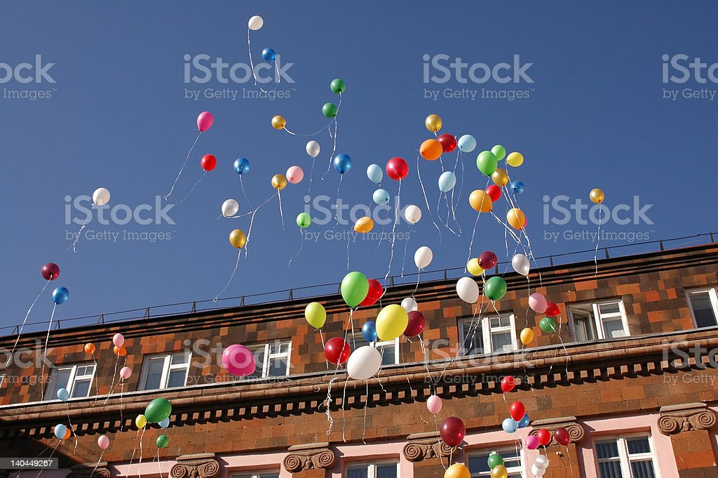 balloons 5 royalty-free stock photo